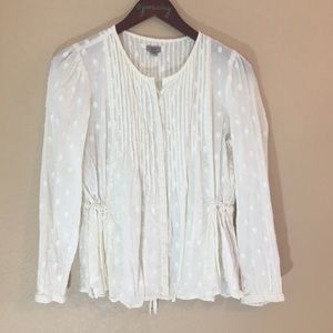 Ecote cream color blouse light cotton medium top